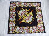 FLAMING SKULLS BANDANA